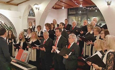 Pancyprian Choir singing for United Nations representatives