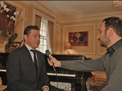 The international renown Greek Artist Mario Frangoulis in New York