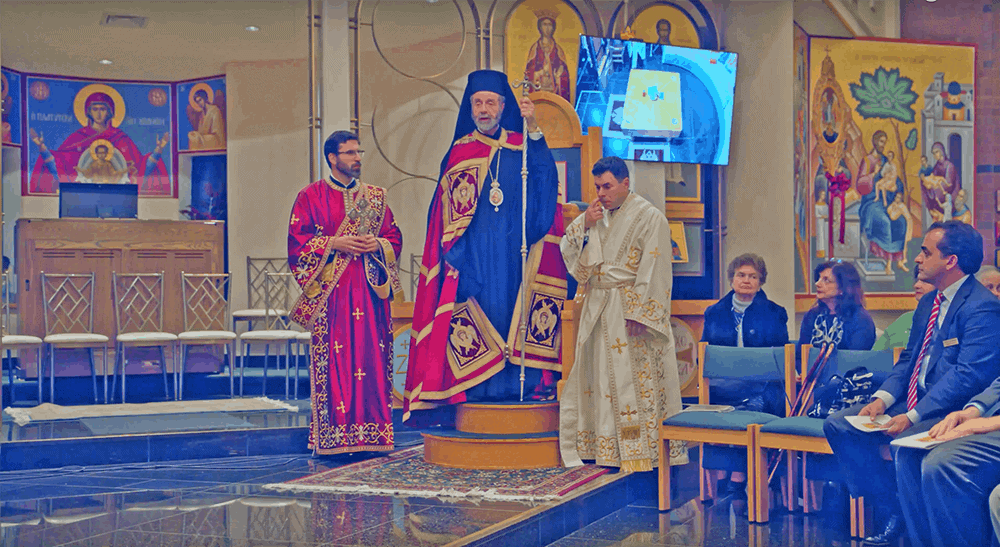 Arrival of holy relics, Holy Ressurection Greek Orthodox Church