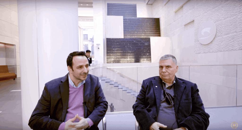 Γιώργος Τράγγας και Δημήτρης Φιλιππίδης στο Ωνάσειο στη Νέα Υόρκη