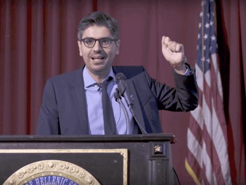 Ομιλία Σταύρου Καλεντερίδη στη Νέα Υόρκη