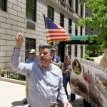 Greeks counter demonstrate anti-Greek Albanians at Greek Consulate in New York