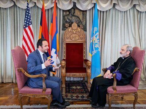 Interview of the Armenian Archbishop Anoushavan Tanielian by Dimitris Filippidis of Hellas FM