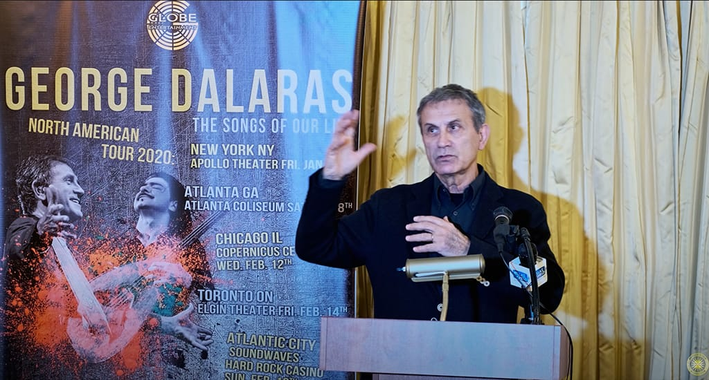 Συνέντευξη Τύπου Γιώργου Νταλάρα στη Νέα Υόρκη.